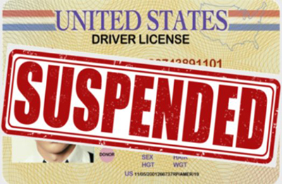 ticket for driving on a suspended drivers license